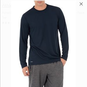 NEW MEN'S WORKOUT LONG SLEEVE TOP, BLACK, SIZE S